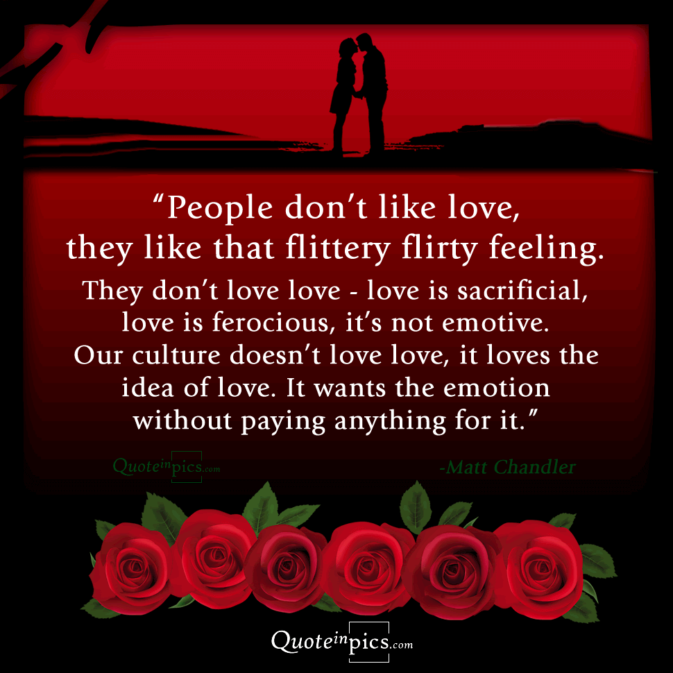 People don't actually like love