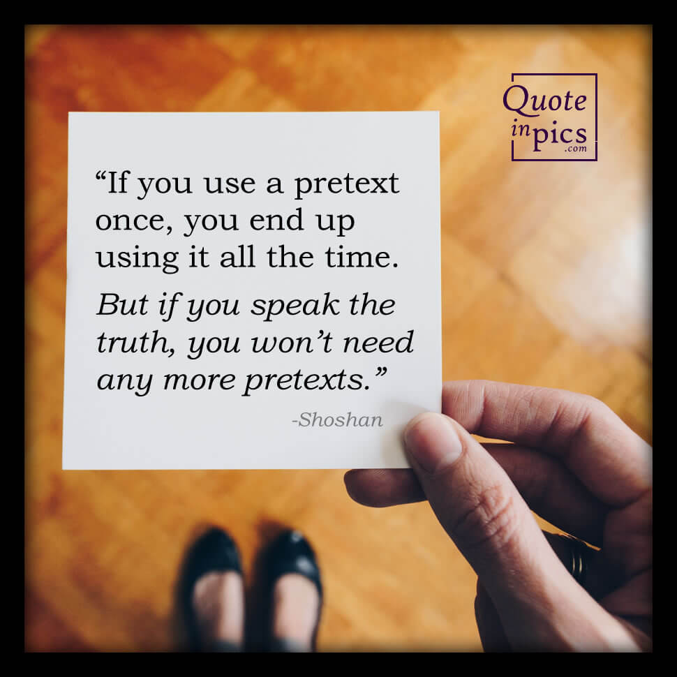 If you use a pretext once...