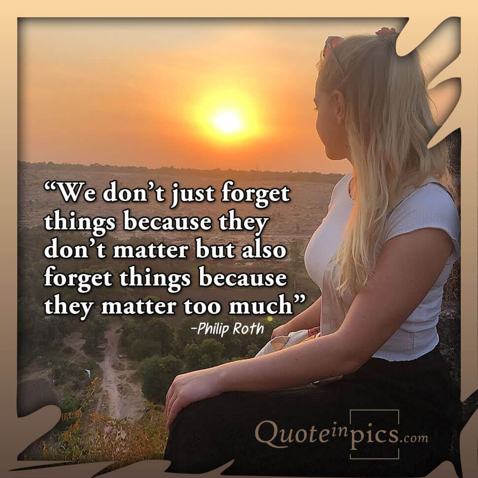 Why we forget things
