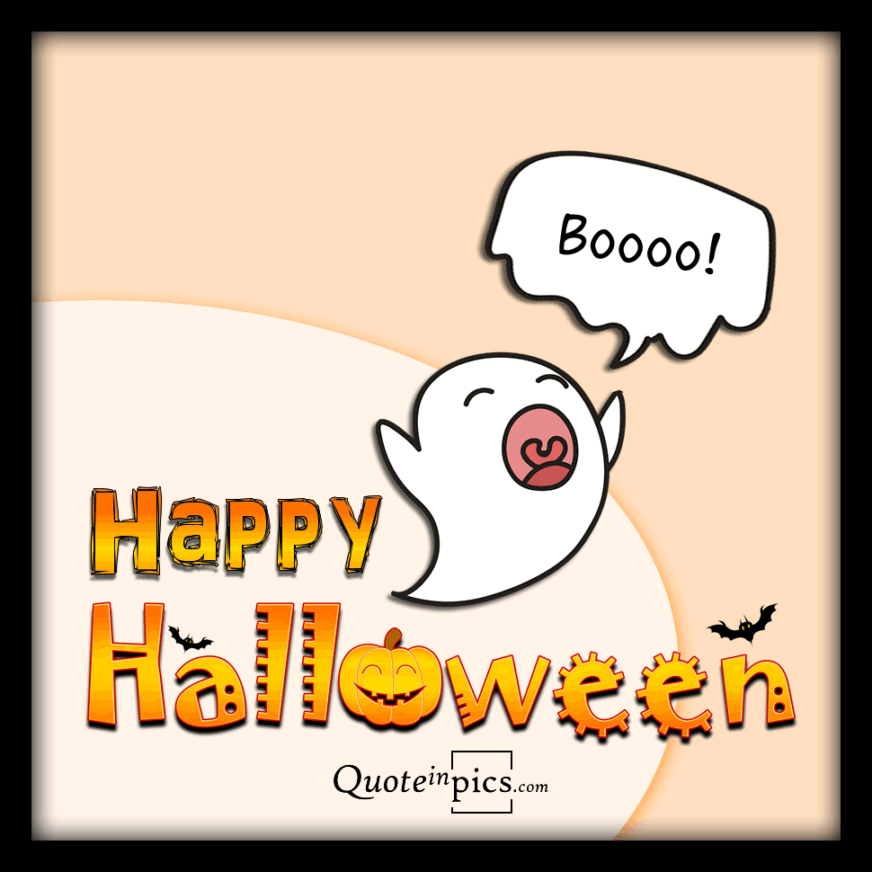 Cute ghost for a happy Halloween greeting