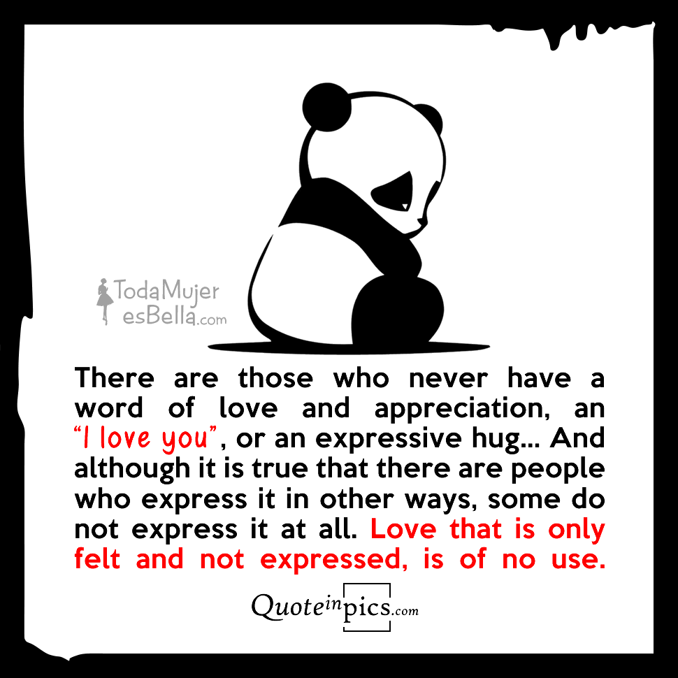 Without a word of love or appreciation