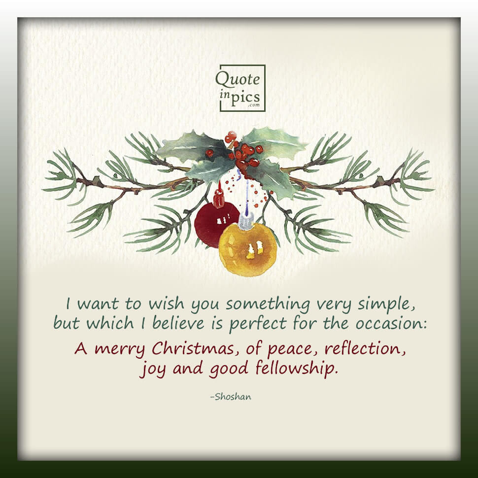 A simple wish for your Christmas season