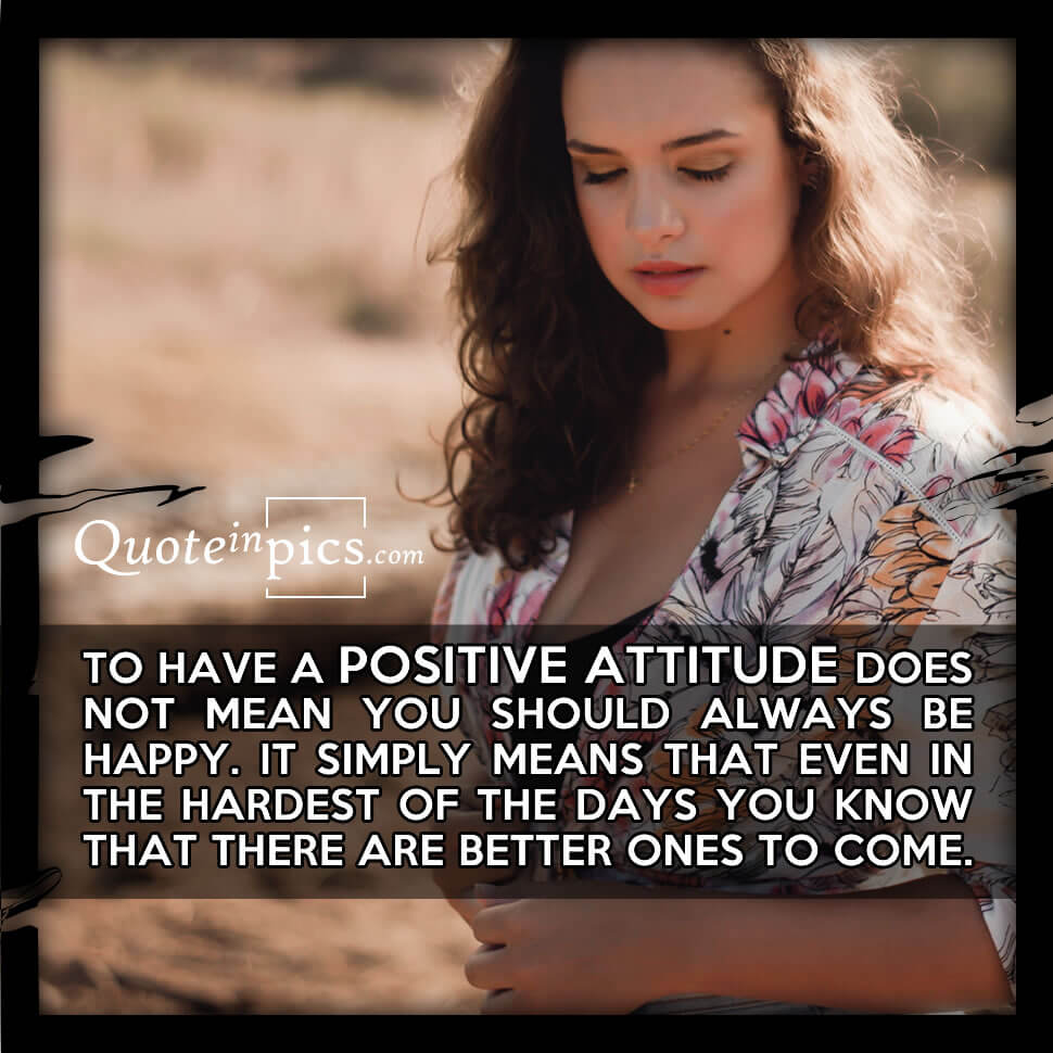 What a positive attitude really means