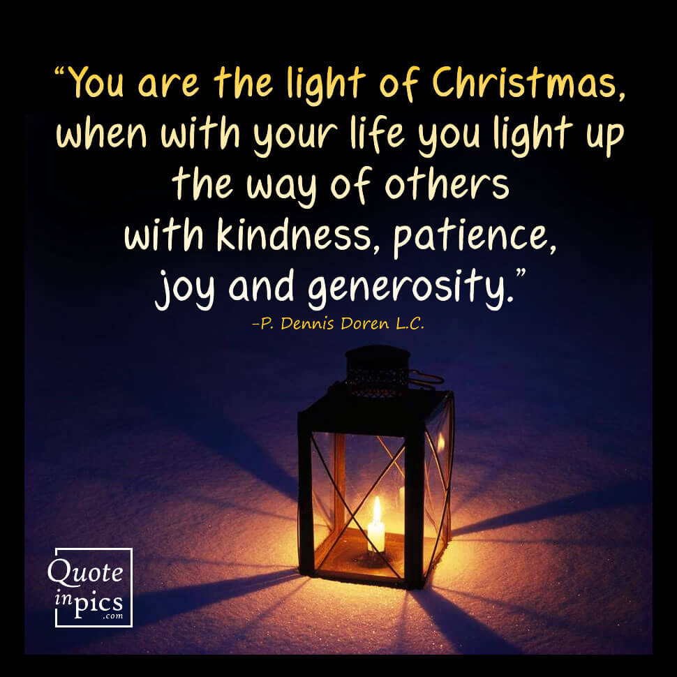 You are the light of Christmas