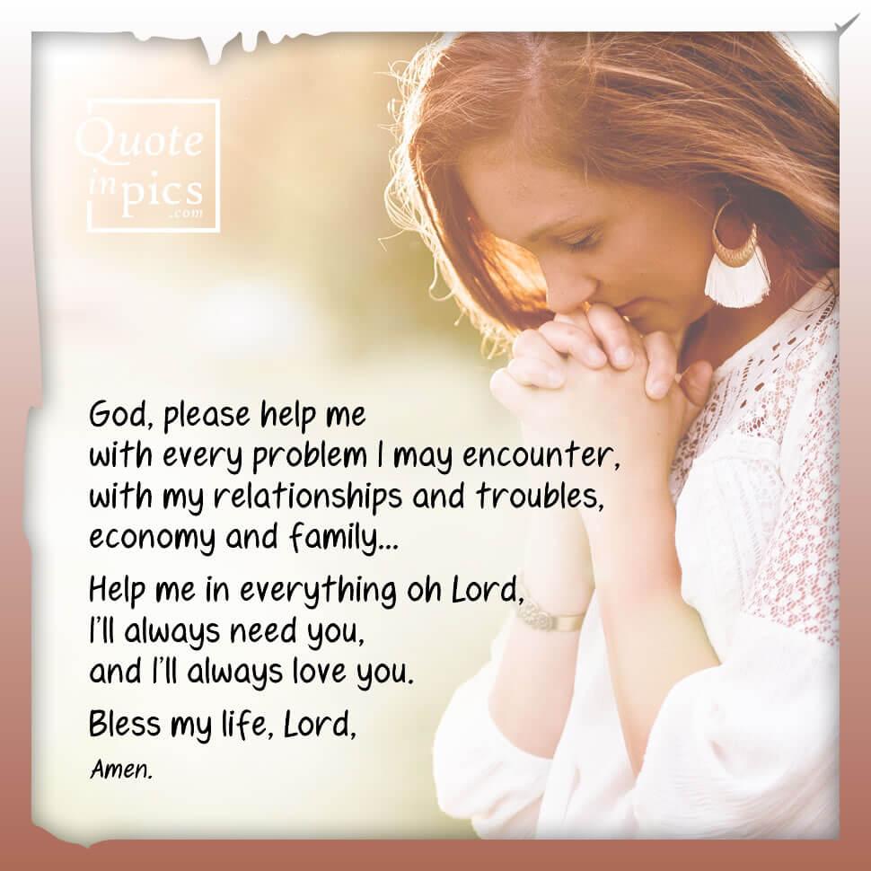 Prayer: God, please help me!